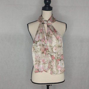 """Pink Floral Scarf 11"""" x 58"""""""